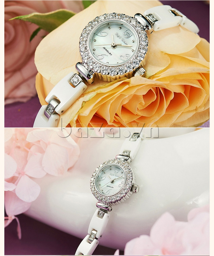 Đồng hồ nữ gắn đá Zirconia Royal Crown 63806C