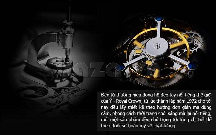 Đồng hồ nữ dây đeo gốm sứ Royal Crown 63806C chất lượng