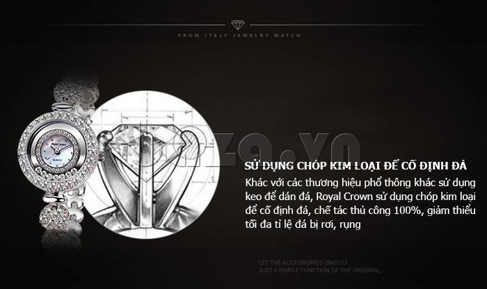 Đồng hồ nữ dây đeo gốm sứ Royal Crown 63806C - chất lượng