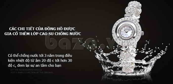 Đồng hồ nữ dây đeo gốm sứ Royal Crown 63806C - chống nước tối ưu
