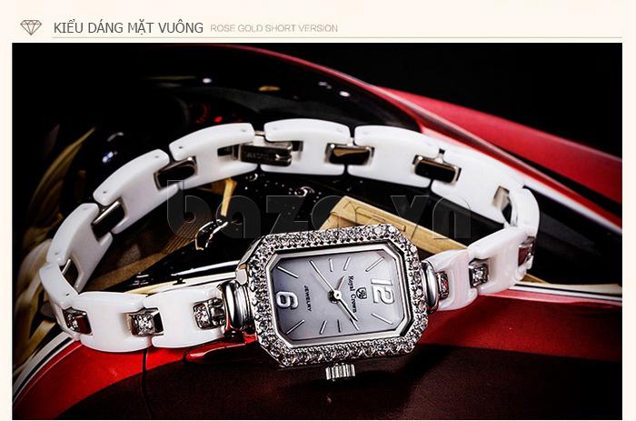Đồng hồ gốm nữ Royal Crown 63806C