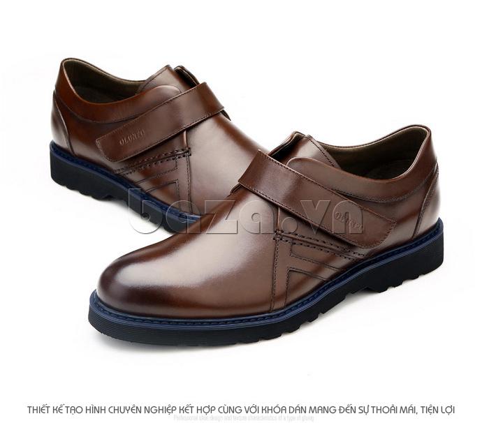 Thiết kế giày tạo hình chuyên nghiệp kết hợp với khóa dán mang đến sự thoải mái tiện dụng