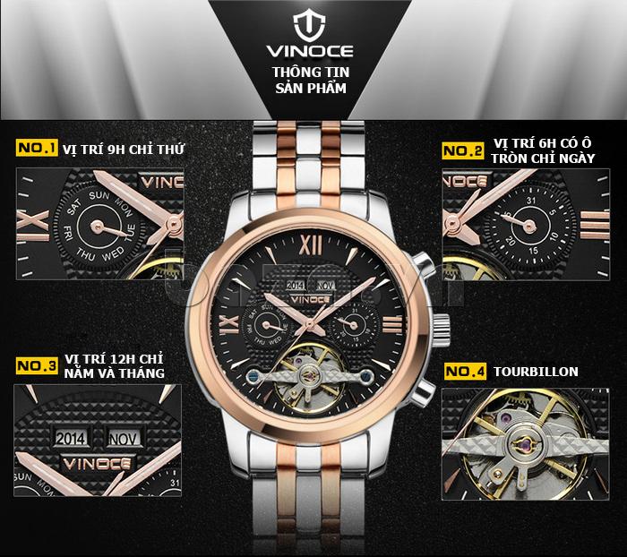 Đồng hồ cơ nam Vinoce 633227 chính hãng