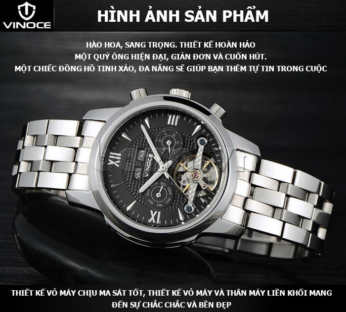 Đồng hồ cơ nam Vinoce 633227 thiết kế độc đáo