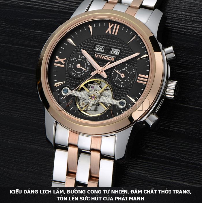 Đồng hồ cơ nam Vinoce 633227 thiết kế hot