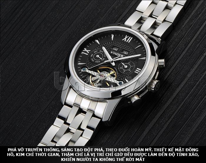 Đồng hồ cơ nam Vinoce 633227 thiết kế tinh xảo