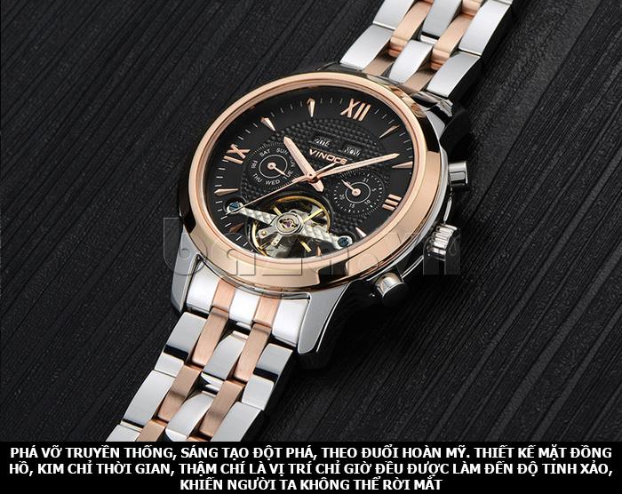 Đồng hồ cơ nam Vinoce 633227 thiết kế độc