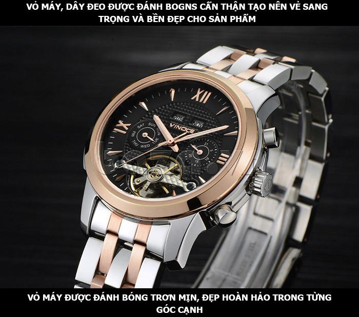 Đồng hồ cơ nam Vinoce 633227 thiết kế lạ