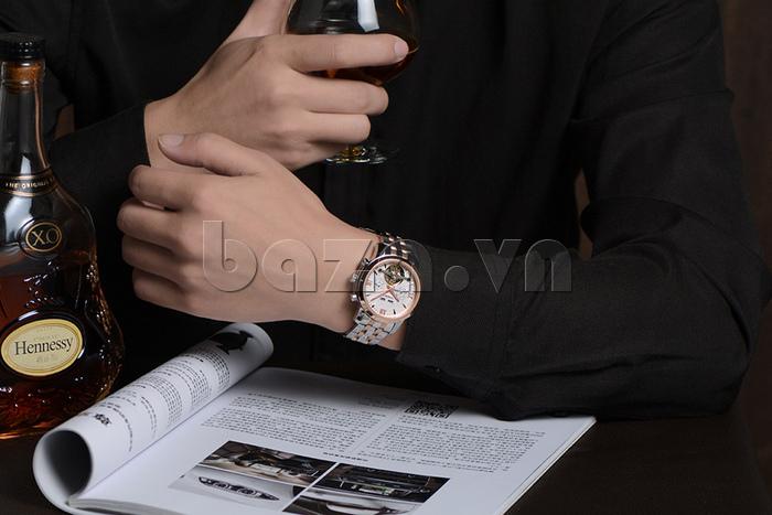 Đồng hồ cơ nam Vinoce 633227 thiết kế chính hãng