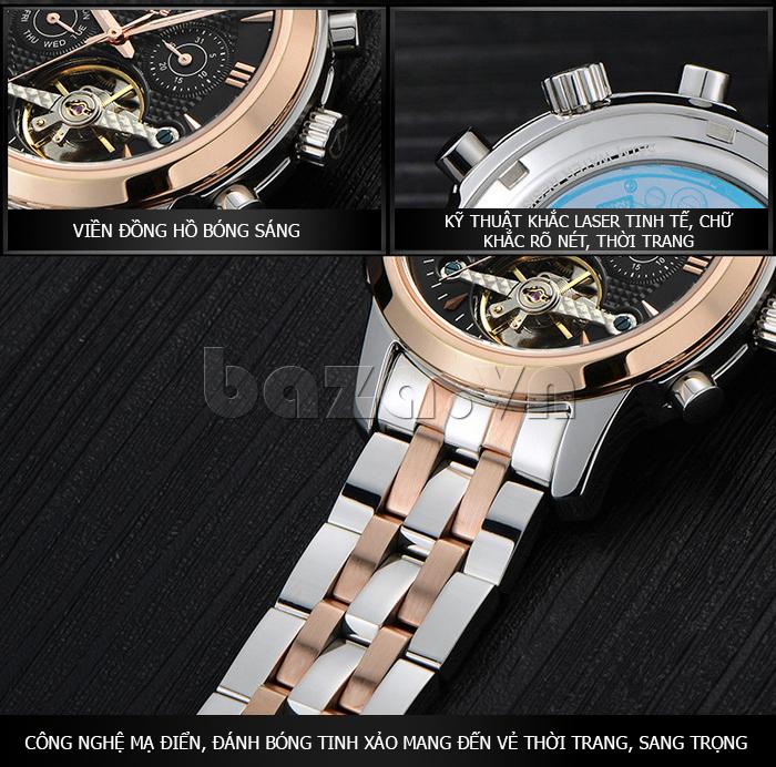 Đồng hồ cơ nam Vinoce 633227 tinh xảo