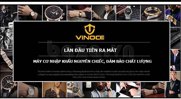Đồng hồ cơ nam Vinoce 633227 đẹp