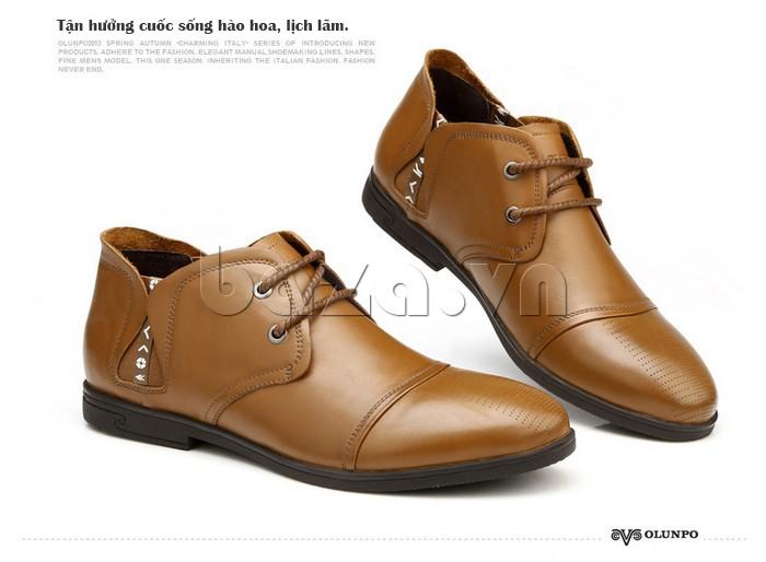 giày nam Olunpo QDT1303 khẳng định vẻ đẹp hào hoa, lịch lãm của nam giới