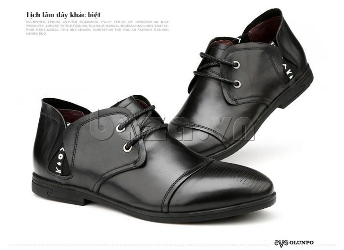 giày nam Olunpo QDT1303 lịch lãm đầy khác biệt so với những mẫu giày khác