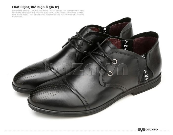 giày nam Olunpo QDT1303 - chất lượng thể hiện ở giá trị