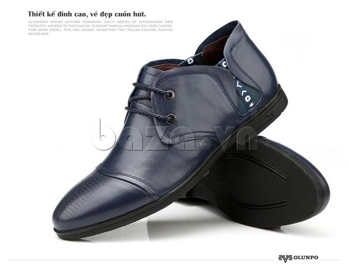 giày nam Olunpo QDT1303 thiết kế đỉnh cao, vẻ đẹp cuốn hút