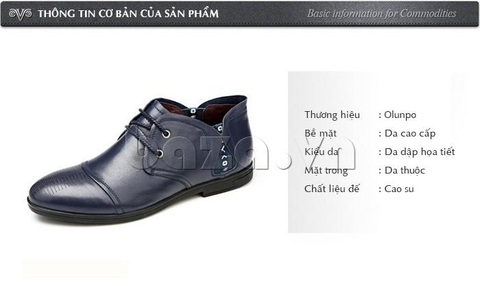 thông tin cơ bản của giày nam Olunpo QDT1303