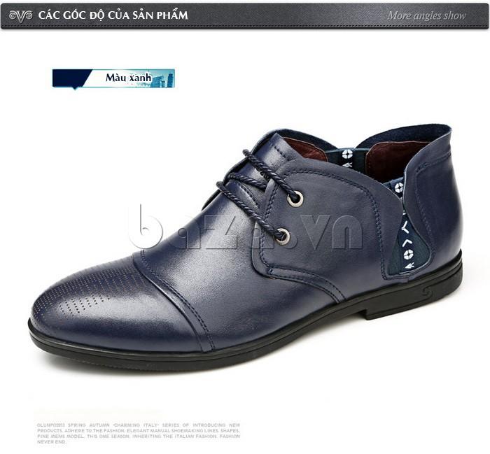 giày nam Olunpo QDT1303 màu xanh tao nhã, sang trọng giúp nam giới xây dựng niềm tin đối với các đối tác