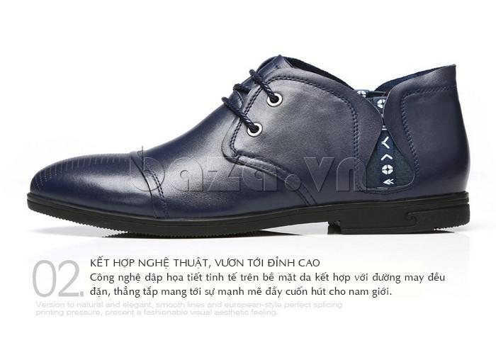 giày nam Olunpo QDT1303 với ưu điểm từ kỹ thuật giúp giày mang phong cách đỉnh cao