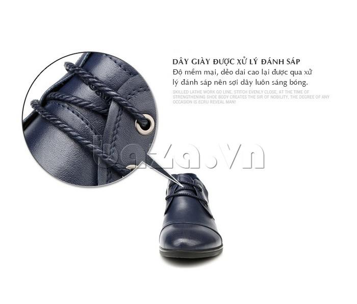 dây giày được xử lý đánh sáp giúp sợi mềm mại, dẻo dai và sáng bóng