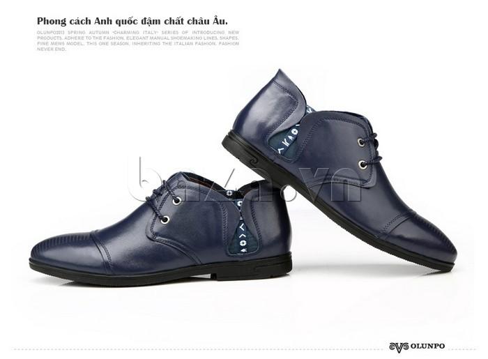 giày nam Olunpo QDT1303 phong cách Anh quốc, đậm chất Châu Âu