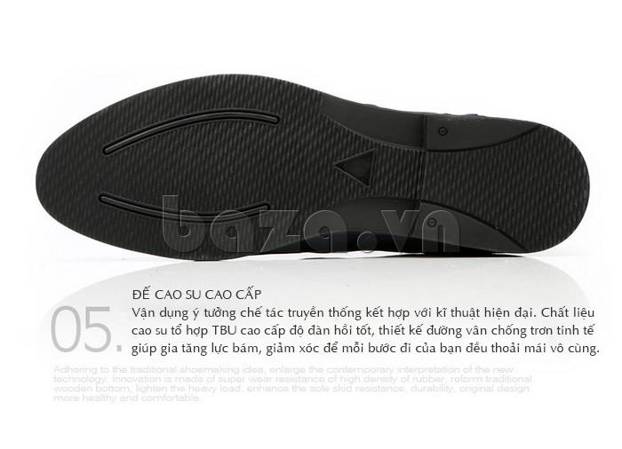 giày nam Olunpo QDT1303 có đế cao su cao cấp thể hiện sự chắc chắn