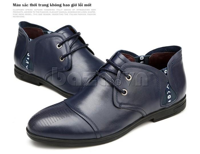 giày nam Olunpo QDT1303 có nhiều màu sắc thời trang không bao giờ lỗi mốt