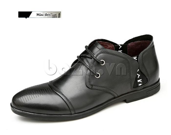 giày nam Olunpo QDT1303 màu đen quyến rũ, sang trọng