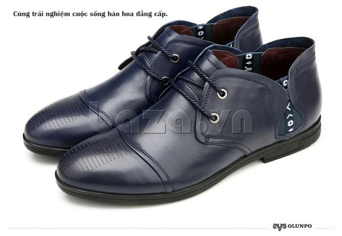 Cùng giày nam Olunpo QDT1303 trải nghiệm cuộc sống hào hoa, đẳng cấp