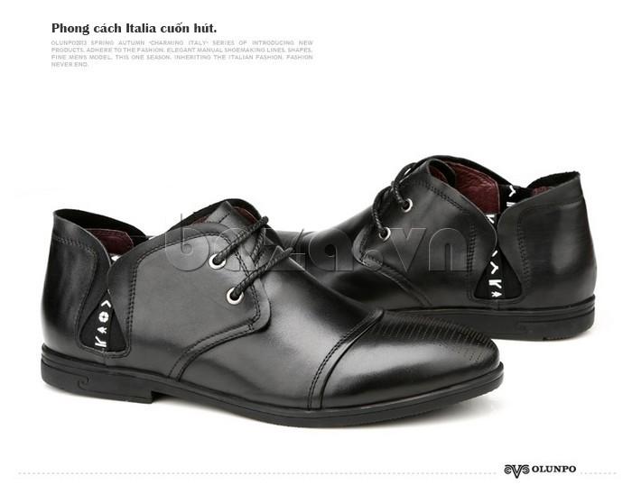 giày nam Olunpo QDT1303 mang đậm phong cách Italy cuốn hút