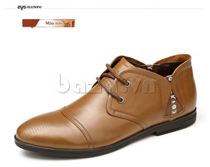 giày nam Olunpo QDT1303 màu nâu dễ phối đồ