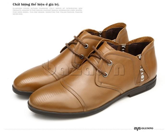 giày nam Olunpo QDT1303 khẳng định giá trị của nam giới