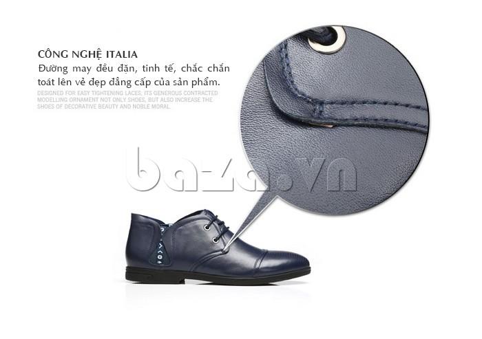 giày nam Olunpo QDT1303 được sản xuất dưới công nghệ Italy
