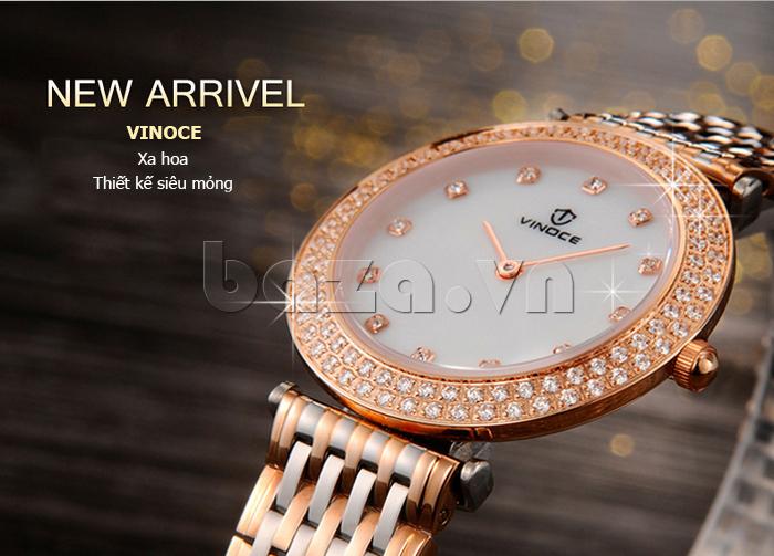 Đồng hồ nữ siêu mỏng Vinoce 6323l thiết kế siêu mỏng