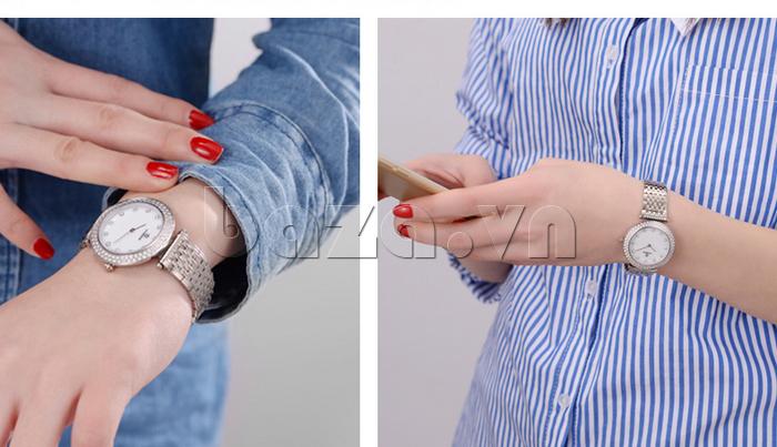 Đồng hồ nữ siêu mỏng Vinoce 6323l cao quý
