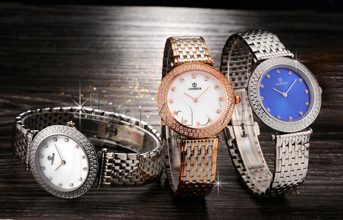 Đồng hồ nữ siêu mỏng Vinoce 6323l sang trọng