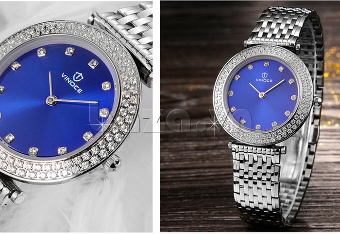 Đồng hồ nữ siêu mỏng Vinoce 6323l tinh tế