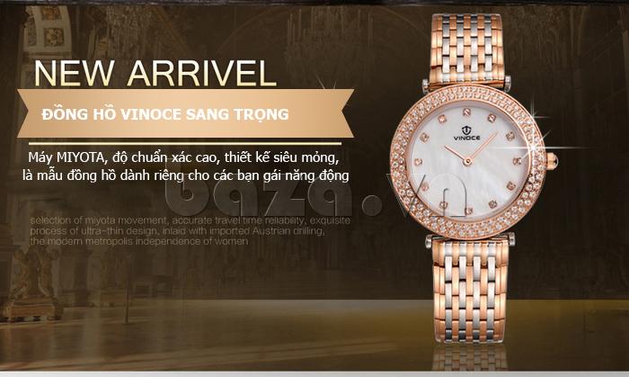 Đồng hồ nữ siêu mỏng Vinoce 6323l độ chuẩn xác cao