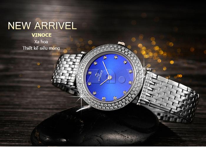 Đồng hồ nữ siêu mỏng Vinoce 6323l xa hoa