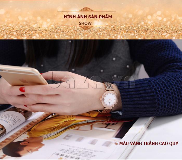 hình ảnh chân thực về Đồng hồ nữ siêu mỏng Vinoce 6323l