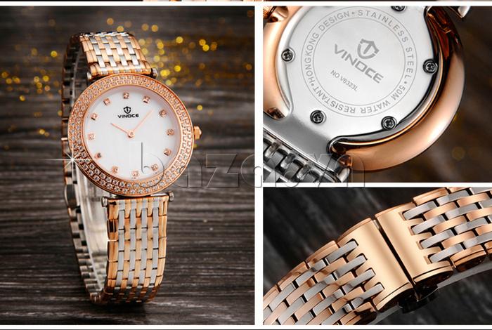 Đồng hồ nữ siêu mỏng Vinoce 6323l đẳng cấp cho phái mạnh