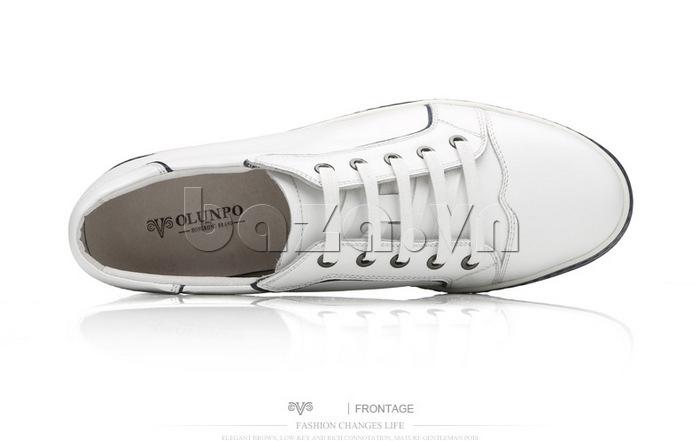 Giày nam Olunpo CZK1501 trắng tinh tế