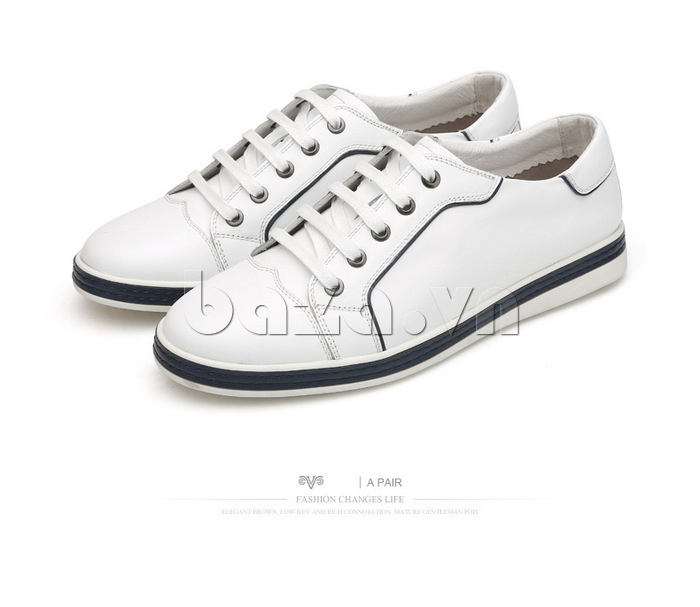 Giày nam Olunpo CZK1501 trắng tự nhiên