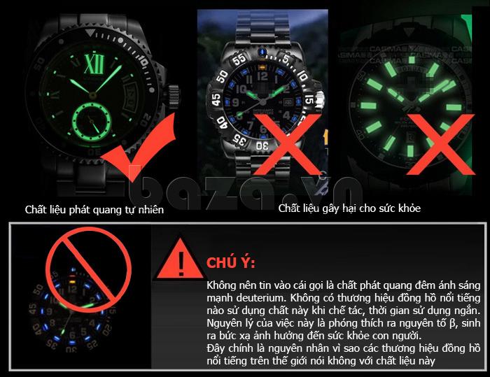 Đồng hồ nam mạnh mẽ Vinoce V6338633 viền khắc số thiết kế độc
