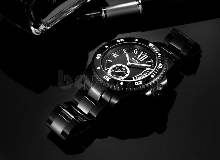 Đồng hồ nam mạnh mẽ Vinoce V6338633 viền khắc số thiết kế bền đẹp