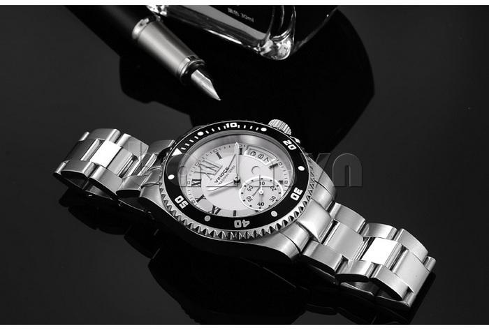 Đồng hồ nam mạnh mẽ Vinoce V6338633 viền khắc số thiết kế chính hãng