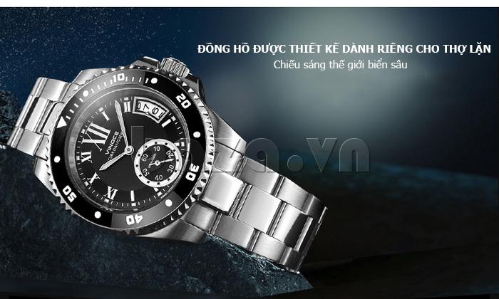 Đồng hồ nam mạnh mẽ Vinoce V6338633 viền khắc số thời trang