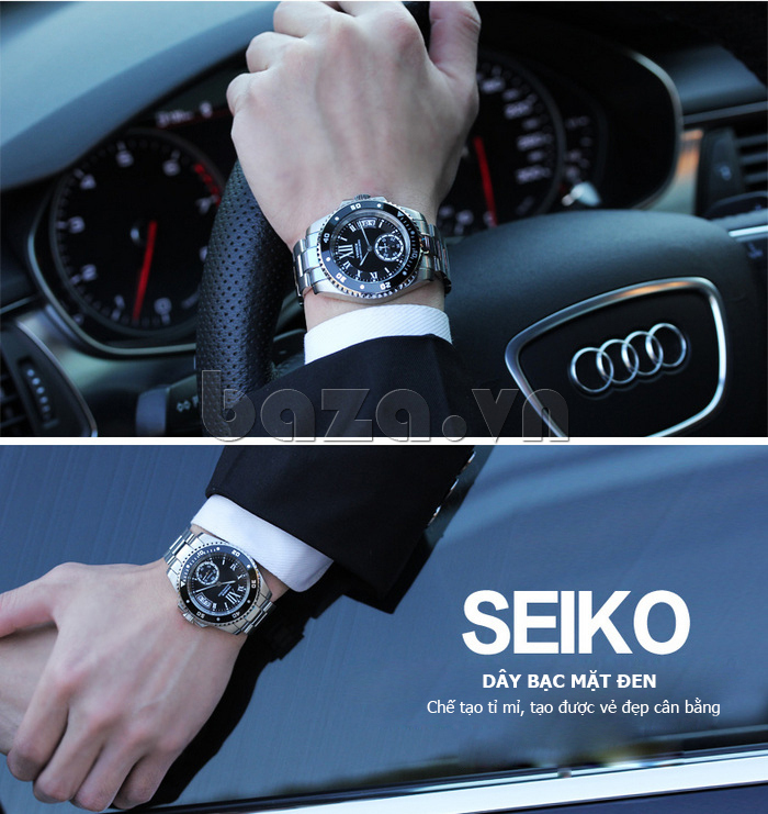 Đồng hồ nam mạnh mẽ Vinoce V6338633 viền khắc số tinh tế