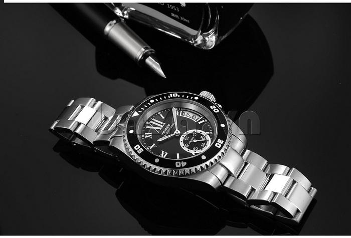 Đồng hồ nam mạnh mẽ Vinoce V6338633 viền khắc số thiết kế cao cấp
