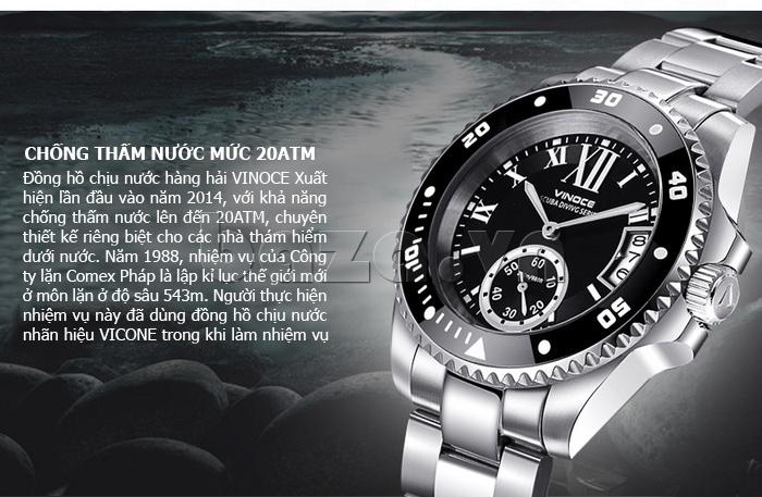 Đồng hồ nam mạnh mẽ Vinoce V6338633 viền khắc số lạ