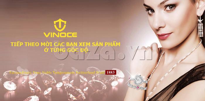 Đồng hồ nữ mặt trái tim Vinoce V633248G mốc đeo tinh tế